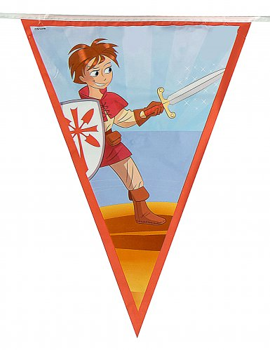 Grinalda de bandeirolas Cavaleiro-1