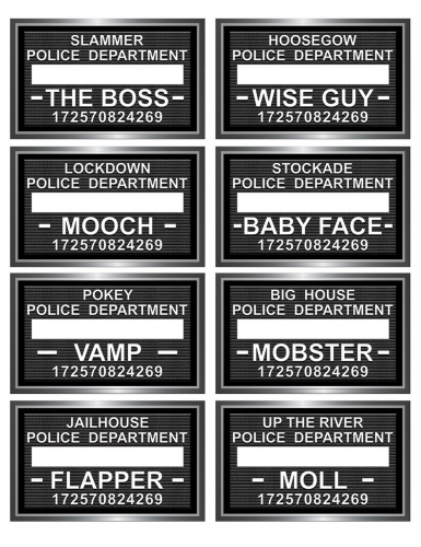 9 placas de prisão para photobooth