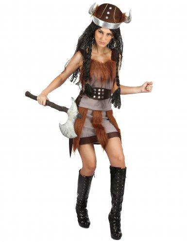 Disfarce linda viking sexy mulher