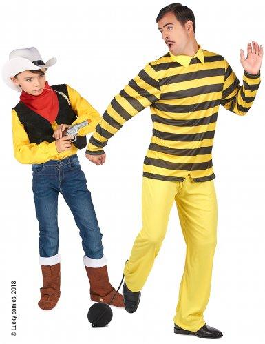 Disfarce de casal Dalton e Lucky Luke™ pai e filho