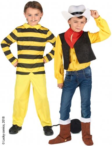Disfarce de casal Dalton e Lucky Luke™ crianças