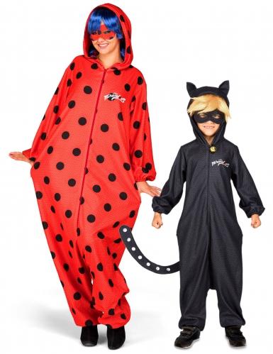 Disfarce de casal Ladybug e Chat noir Miracyulous™ Mãe e filho