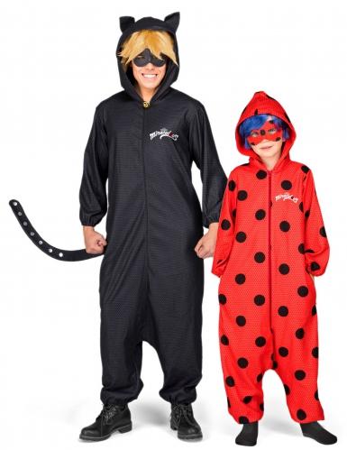 Disfarce de casal Ladybug e Chat noir Miraculous™ Pai e filha