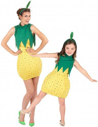 Disfarce de casal fruta ananás Mãe e Filha