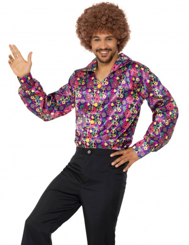 Camisa hippie paz florida adulto