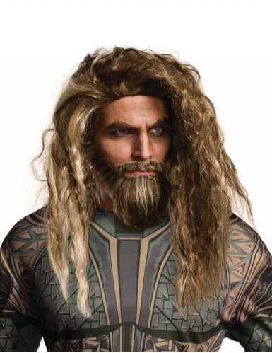 Peruca e barba adulto Aquaman™