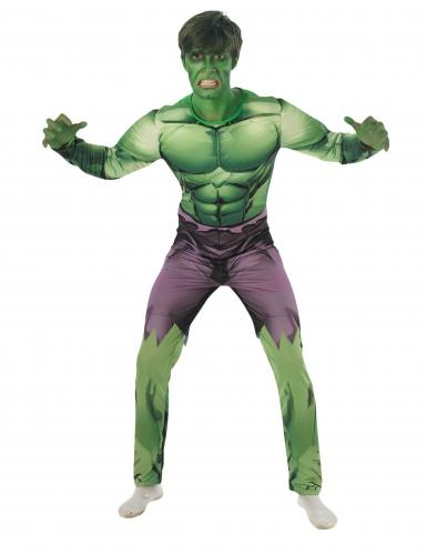 Disfarce clássico almofadado Hulk™ adulto