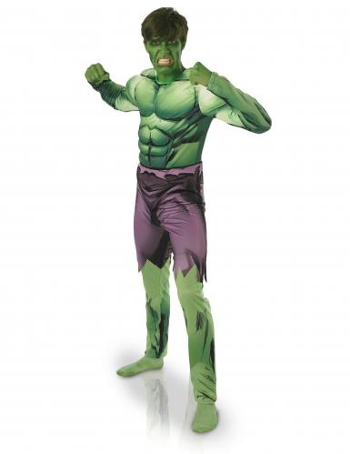 Disfarce clássico almofadado Hulk™ adulto-1