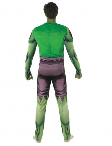 Disfarce clássico almofadado Hulk™ adulto-2