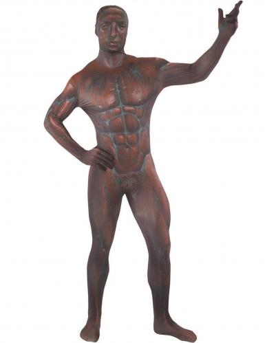 Disfarce macacão Estátua de bronze adulto Morphsuits™-1