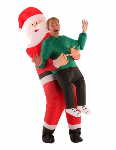 Disfarce homem no colo do Pai Natal adulto Morphsuits™