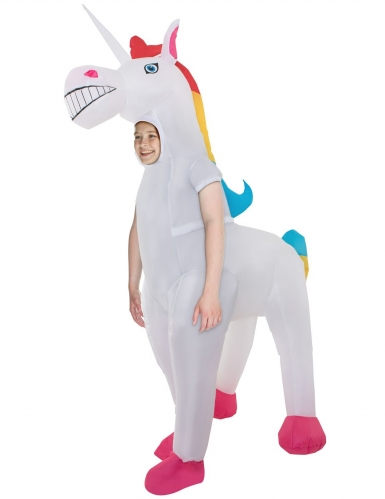 Disfarce gonflable Unicornio gigante criança Morphsuits™