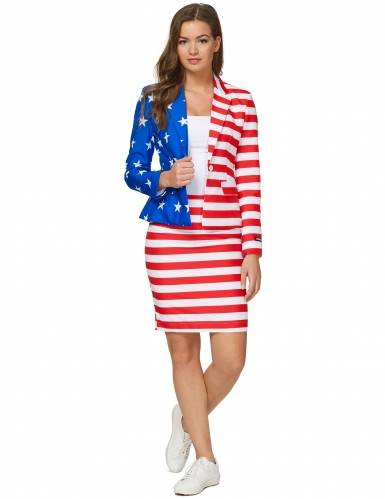 Fato Mrs. USA Flag mulher Suitmeister™