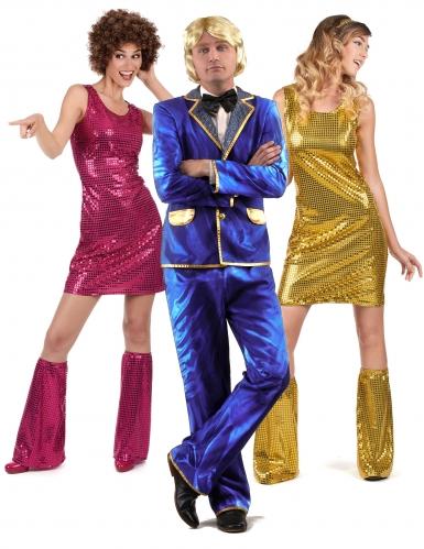 Disfarce de grupo cantor Disco e suas dançarinas