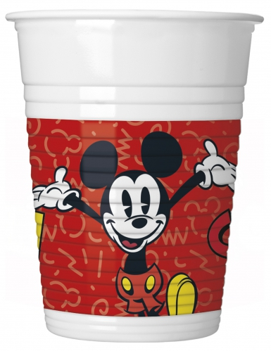 8 Copos de plástico Mickey™