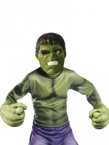 Kit máscara e luvas gigantes Hulk™ criança