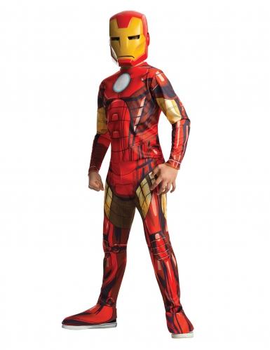 Disfarce clássico Iron Man™ desenho animado menino