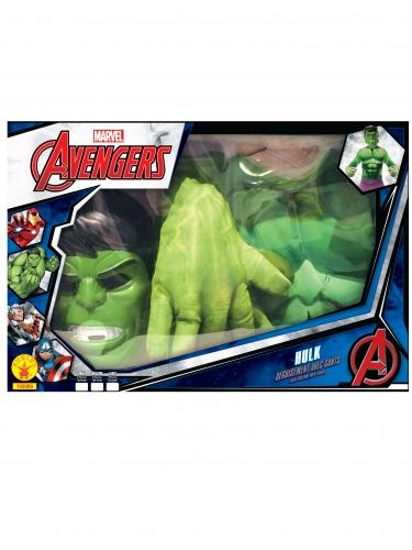 Coffret - Hulk™ clássico com luvas gigantes menino-1
