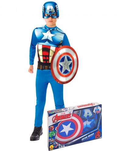 Coffret clássico Captain America™ com escudo menino