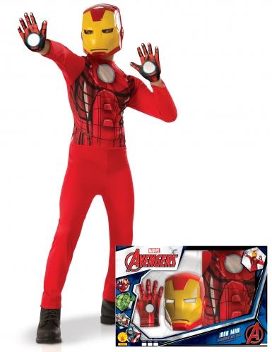 Coffret - Iron Man™ clássico com luvas menino