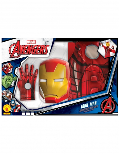 Coffret - Iron Man™ clássico com luvas menino-1