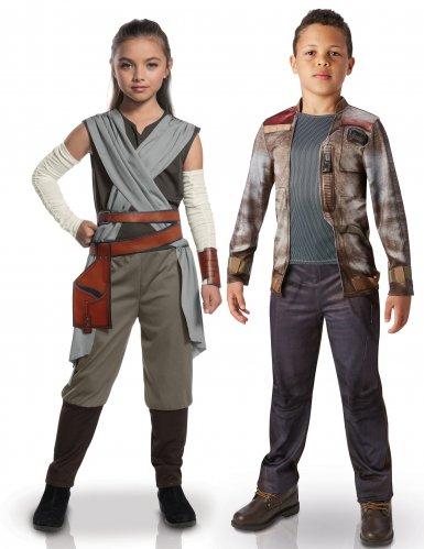 Disfarce de casal luxo Rey e Finn™ crianças - Star Wars™