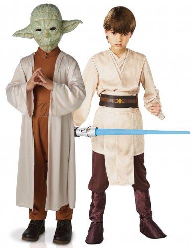 Disfarce de casal Yoda e Jedi™ crianças - Star Wars™