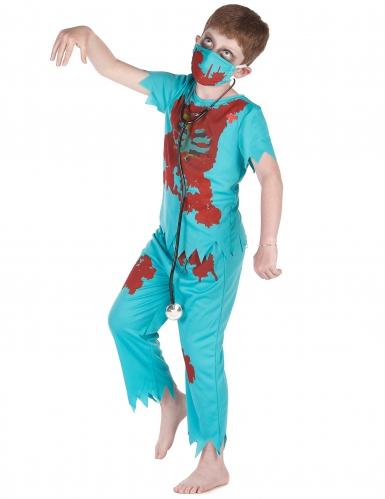 Disfarce cirurgião zombie menino-1