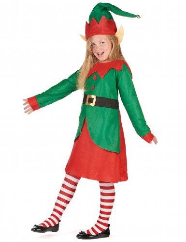 Disfarce vestido duende de Natal menina-1