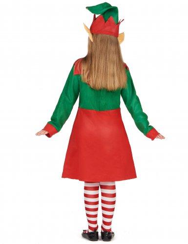 Disfarce vestido duende de Natal menina-2