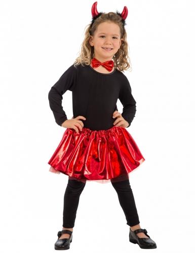 Kit diabinha vermelho com laço menina