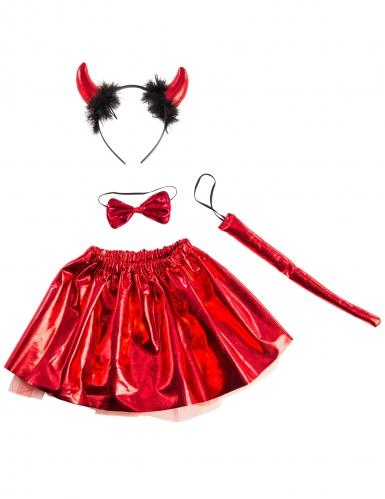 Kit diabinha vermelho com laço menina-2