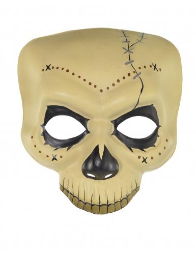 Meia máscara de feiticeiro Dia dos Mortos