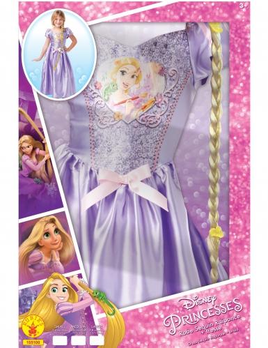 Disfarce Princesa Rapunzel™ com trança - Coffret-1