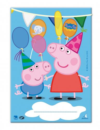 10 Sacos de festa Peppa Pig™ 17 x 25 cm