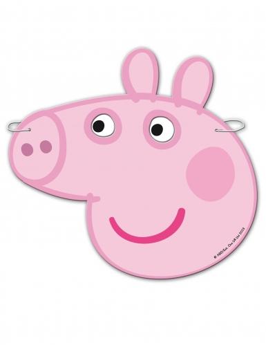 6 Máscaras de cartão Peppa Pig™-1
