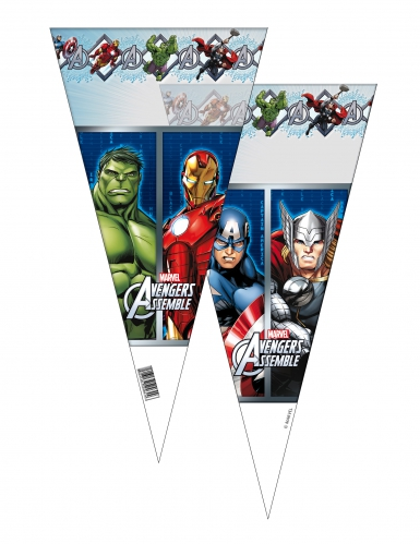 6 Sacos de festa Avengers™ - Os Vingadores™