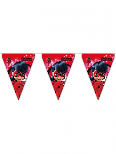 Grinalda de bandeirolas Miraculous Ladybug™