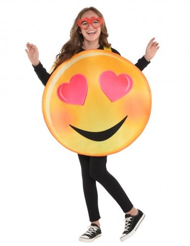 Disfarce emoticon apaixonado criança