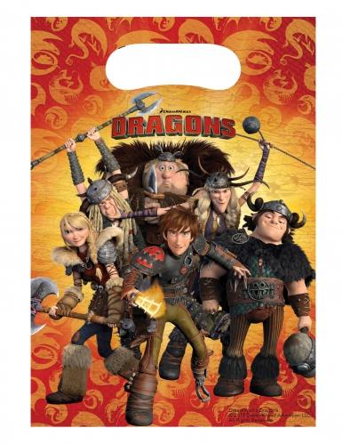 6 sacos-prenda Dragons™ 16.5 x 23 cm