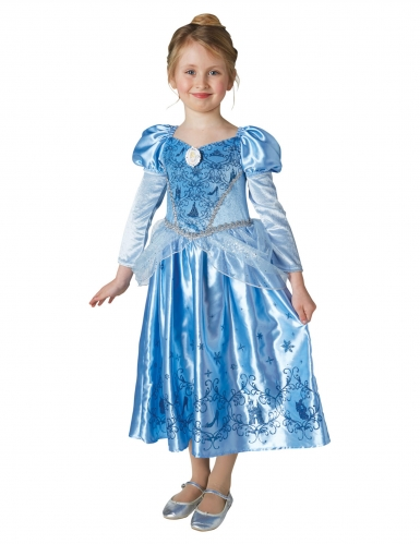 Disfarce Princesa do inverno Cinderela™ com capa menina-1