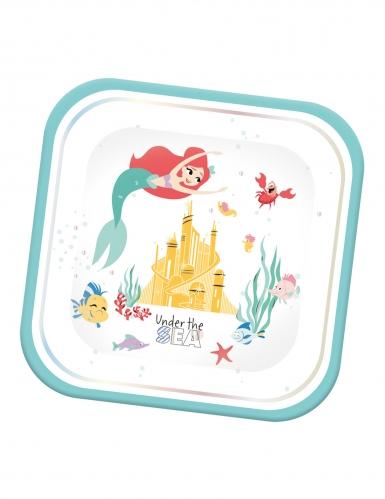 4 Pratos de cartão quadrados Premium Ariel™ 24 x 24 cm