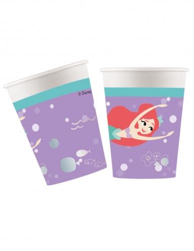 8 Copos de cartão premium sereia Ariel™ 260 ml