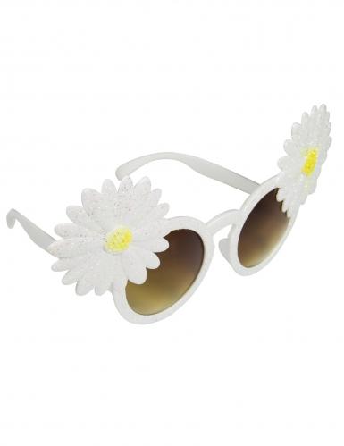 Óculos margaridas brancas adulto