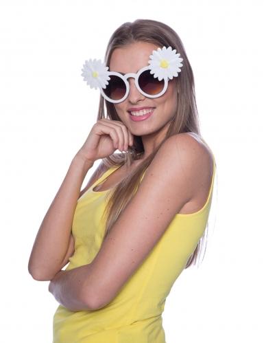 Óculos margaridas brancas adulto-1