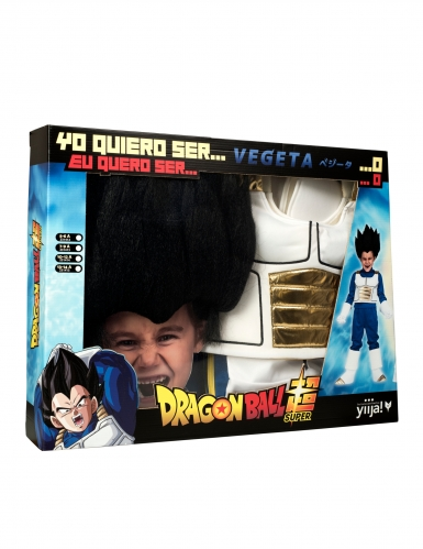 Coffret Disfarce com peruca Vegeta Dragon Ball™ criança-3