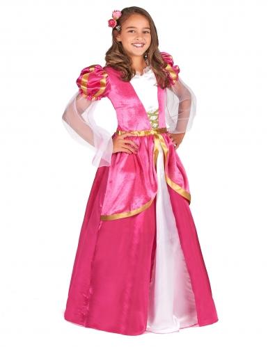Disfarce princesa medieval rosa menina