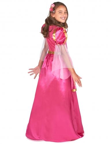 Disfarce princesa medieval rosa menina-2