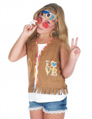 Disfarce Colete hippie criança