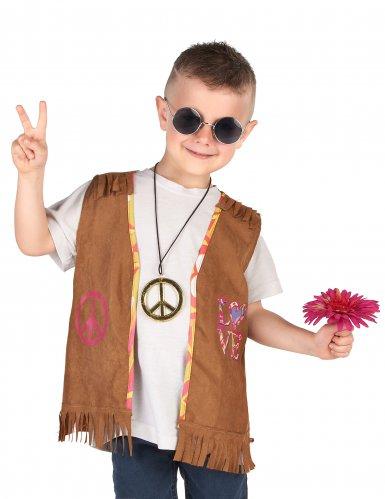 Disfarce Colete hippie criança-1